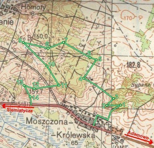 zdjęcie mapka bunkry moszczona
