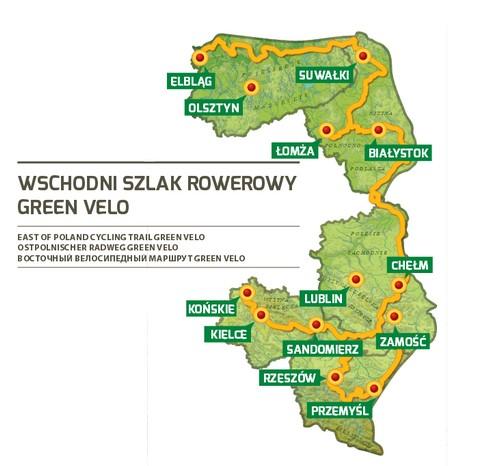 zdjęcie wschodni szlak rowerowy green velo